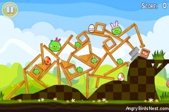 Angry Birds Seasons Easter Eggs Level 1-12 Walkthrough