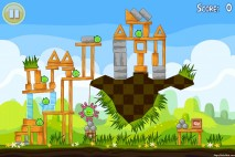 Angry Birds Seasons Easter Eggs Level 1-14 Walkthrough