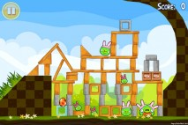 Angry Birds Seasons Easter Eggs Level 2-1 Walkthrough