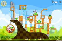 Angry Birds Seasons Easter Eggs Level 1-2 Walkthrough