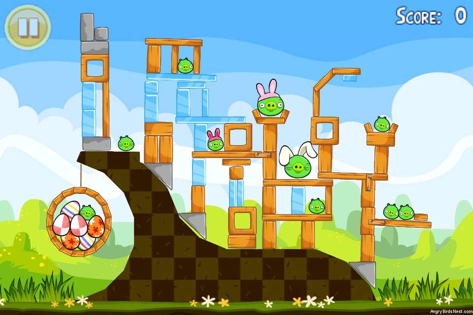 Angry Birds Stella Kleurplaten.Angry Birds Seasons Easter Eggs Level 1 2 Walkthrough