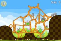 Angry Birds Seasons Easter Eggs Level 1-4 Walkthrough