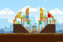 Angry Birds Chrome Dimension Level #1 Walkthrough