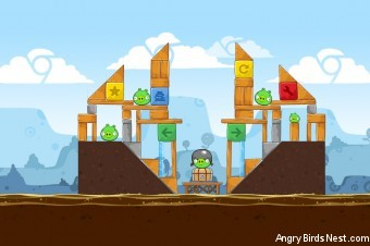 Angry Birds Chrome Dimension Level #1 Walkthrough