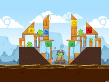 Angry Birds Chrome Dimension Level 1