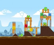 Angry Birds Chrome Logo Location Level 2-4