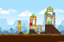 Angry Birds Chrome Dimension Level #4 Walkthrough