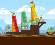 Angry Birds Chrome Logo Location Level 4-4