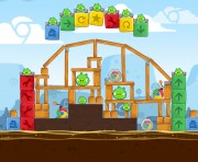 Angry Birds Chrome Logo Location Level 4-13