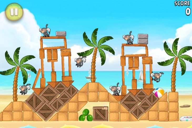 Angry Birds Rio Beach Volley Level 5-11