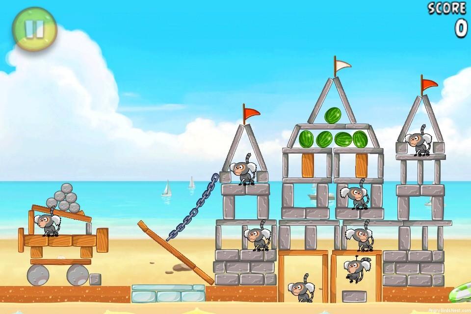 Angry Birds Rio Beach Volley Walkthrough Level 14 (5-14 ...