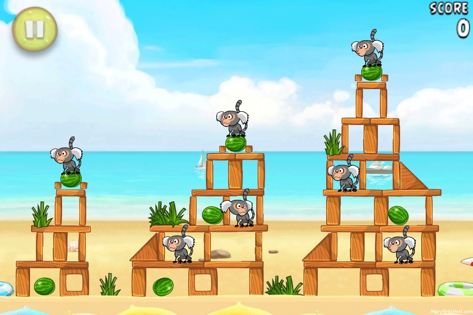 Angry Birds Rio Beach Volley Walkthrough Level 2 (5-2 ...