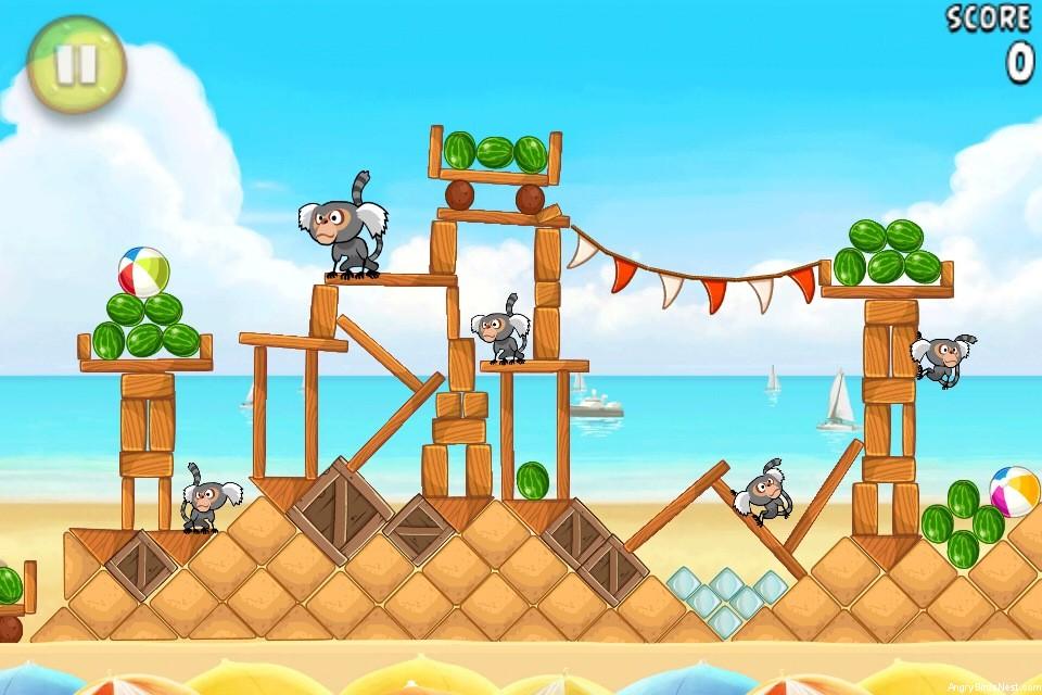 Angry Birds Rio Free Beach Volley Walkthrough Level 3-3 ...