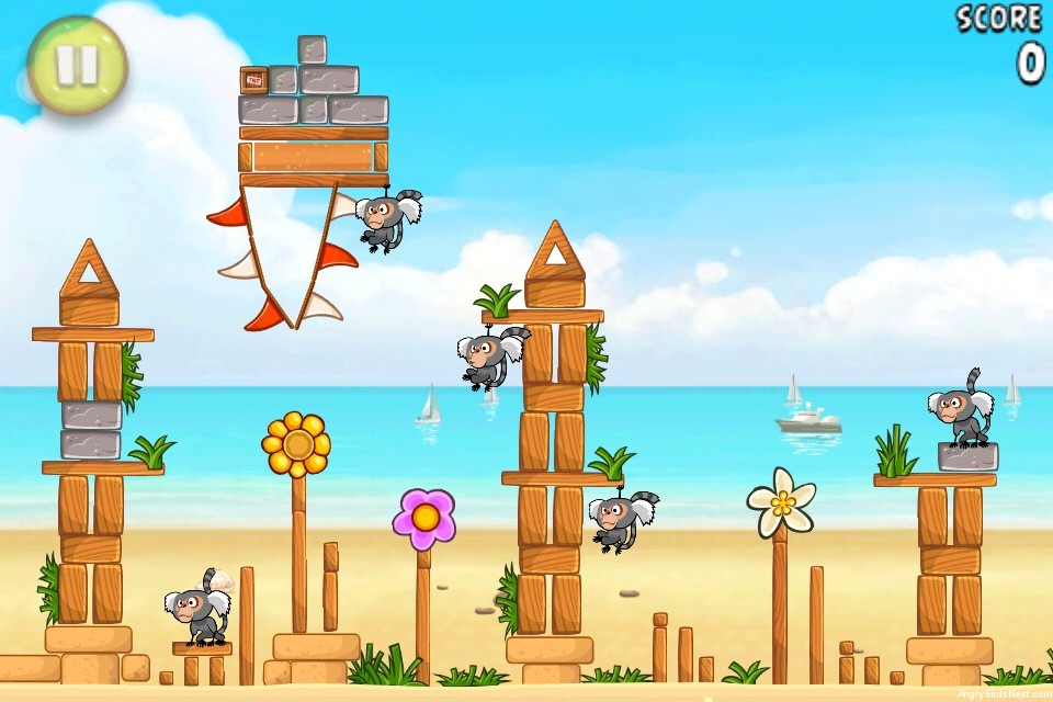 Angry Birds Rio Beach Volley Level 5-9