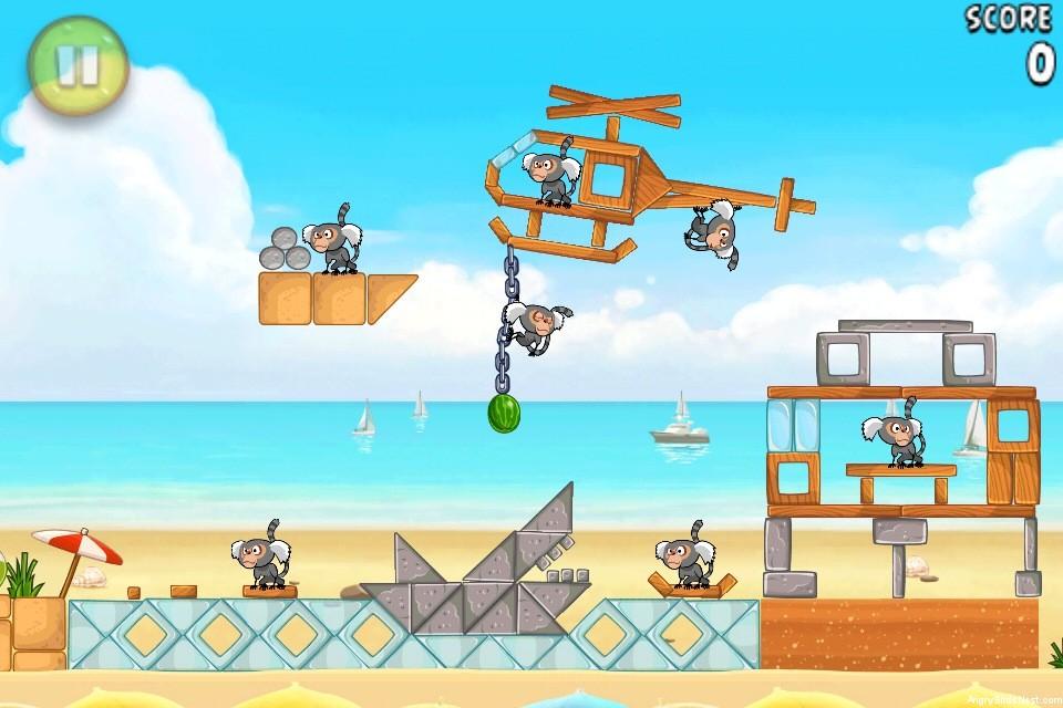 Angry Birds Rio Beach Volley Walkthrough Level 16 (6-1 ...