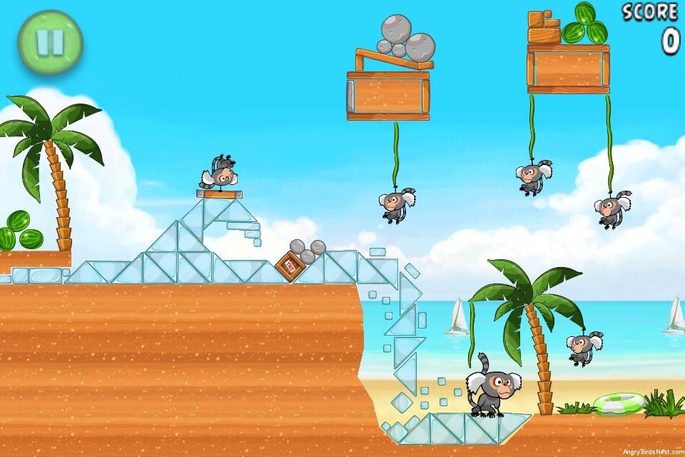 Angry Birds Rio Beach Volley Walkthrough Level 26 (6-11 ...