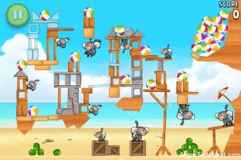 Angry Birds Rio Beach Volley Walkthrough Level 30 (6-15)