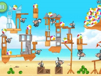 Angry Birds Rio Beach Volley Level 6-15