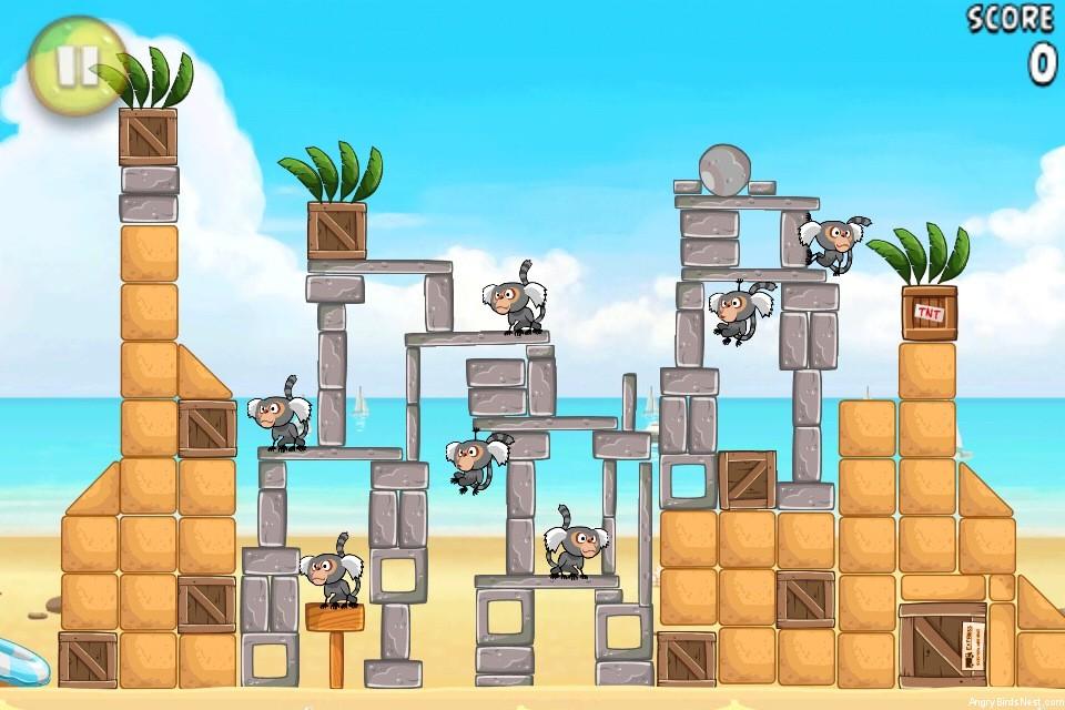 Angry Birds Rio Beach Volley Walkthrough Level 19 (6-4 ...