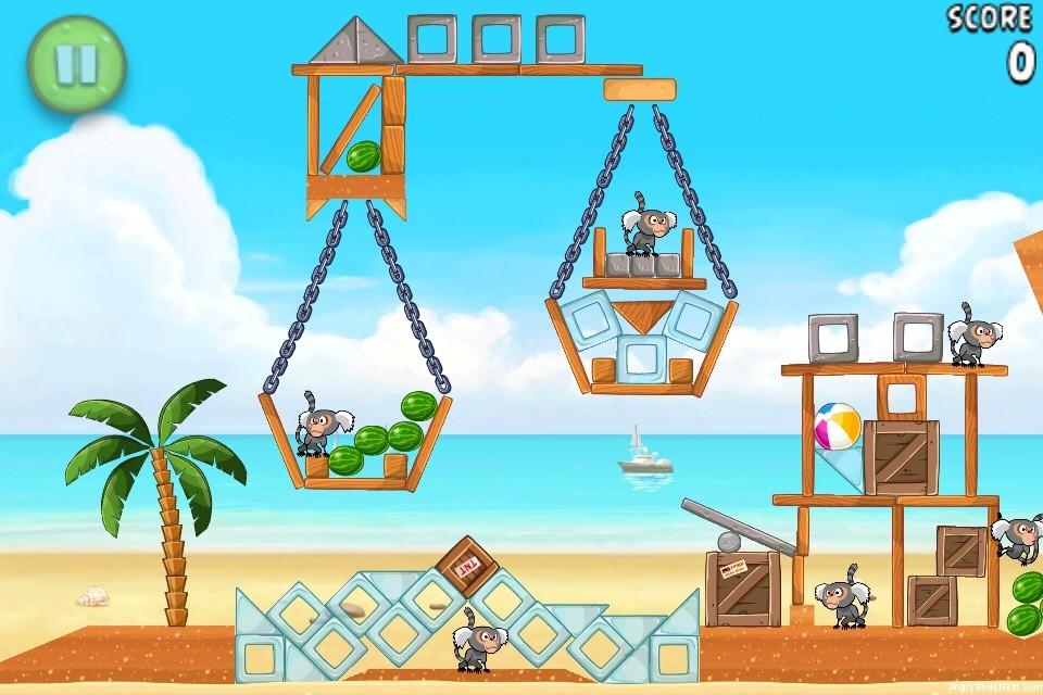 Angry Birds Rio Beach Volley Walkthrough Level 21 (6-6 ...