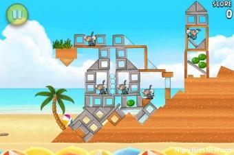 Angry Birds Rio Melon Walkthrough Level 22 (6-7)
