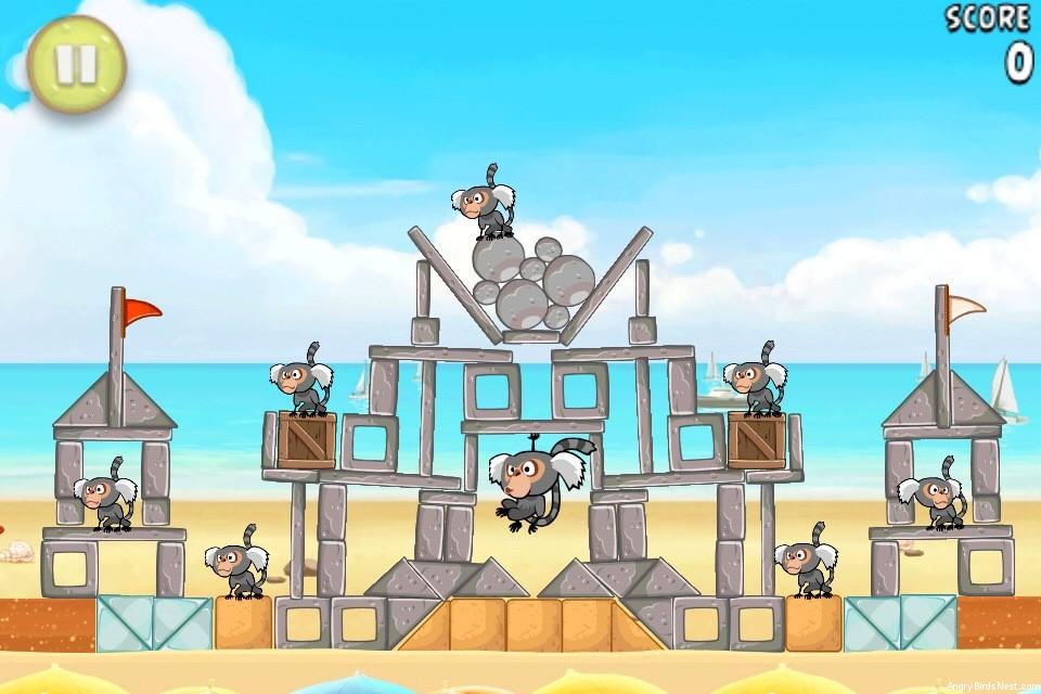 Angry Birds Rio Beach Volley Walkthrough Level 23 (6-8 ...