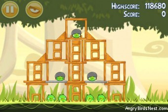 Angry Birds Danger Above 3 Star Walkthrough Level 6-7