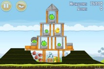 Angry Birds Mighty Hoax 3 Star Walkthrough Level 4-11