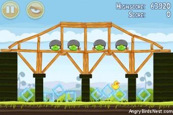 Angry Birds Mighty Hoax 3 Star Walkthrough Level 4-4