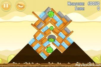 Angry Birds Mighty Hoax 3 Star Walkthrough Level 5-15