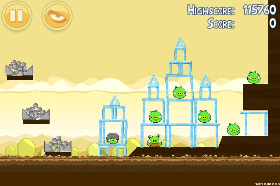 Angry Birds Mighty Hoax 3 Star Walkthrough Level 5 16