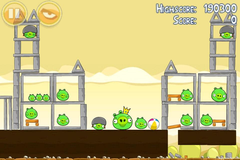 Angrybirds Francescanatale 05: Angry Birds Mighty Hoax 3 Star Walkthrough Level 5-21