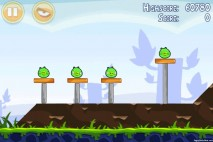 Angry Birds Poached Eggs 3 Star Walkthrough Level 1-2