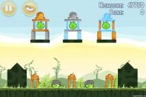 Angry Birds Poached Eggs 3 Star Walkthrough Level 2-18