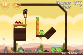Angry Birds Poached Eggs 3 Star Walkthrough Level 3-2