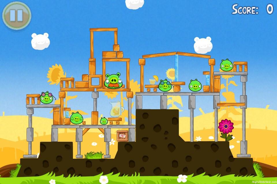 Angry Birds Seasons Summer Pignic Level 1-1 Walkthrough ...