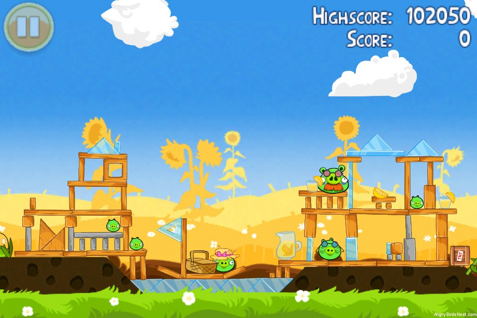 Angry Birds Seasons Summer Pignic Level 1-24