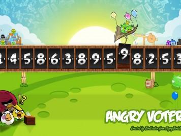 Angry Birds Angry Voters USA National Debt