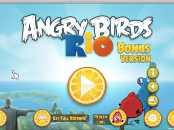 Angry Birds Rio Bonus Version Home Screen