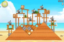 Angry Birds Rio Golden Beachball Walkthrough Level #12