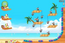 Angry Birds Rio Golden Beachball Walkthrough Level #14