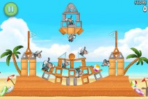 Angry Birds Rio Free Golden Beachball Walkthrough Level #6