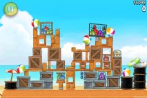 Angry Birds Rio Golden Beachball Walkthrough Level #8