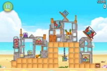 Angry Birds Rio Golden Beachball Walkthrough Level #9