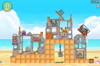 Angry Birds Rio Free Golden Beachball Walkthrough Level #9