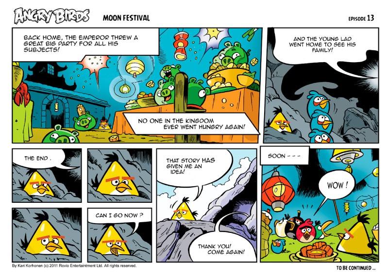 Angry Birds Seasons Moon Festival Comic All Parts