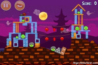 Angry Birds Seasons Mooncake Festival Level 1-11 Walkthrough