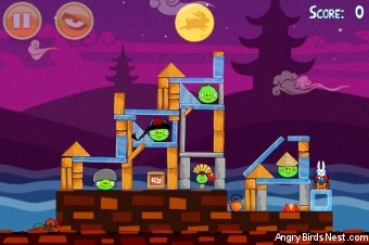 Angry Birds Seasons Mooncake Festival Level 2-12 Walkthrough