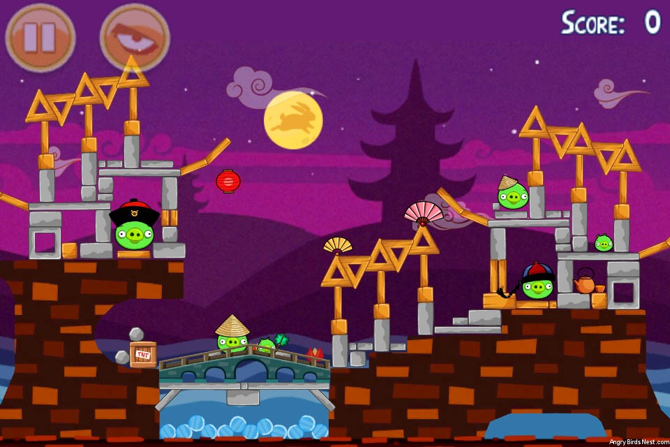 Angry Birds Seasons Mooncake Festival Level 2-7