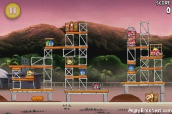 Angry Birds Rio Apple #9 Walkthrough Level 19 (10-4)